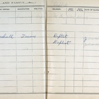 Thomas Family Record Book pages 40 & 41