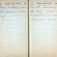 1917 Diary August 18-19