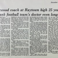 Chittwood coach at Raytown high 25 years, Eubank football team's doctor even longer