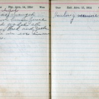 1914 Diary August 14-15