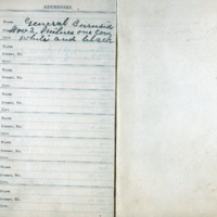 1907 Diary Addresses Page 8