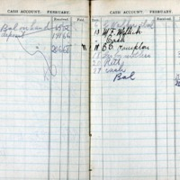 1914 Diary Cash Account February