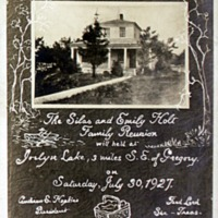 Titus Family Reunion card, 1927