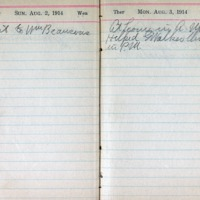 1914 Diary August 2-3