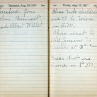 1917 Diary August 16-17