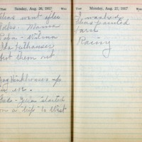 1917 Diary August 26-27