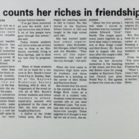 She counts her riches in friendships