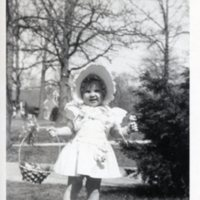Betsy with Easter basket