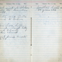 1904 Diary March 12-13