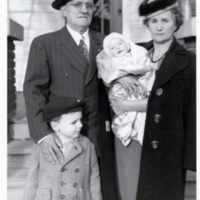 Robert and Judith Bennett with grandchildren Fred and Lola Alkisson