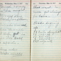 1917 Diary March 7-8