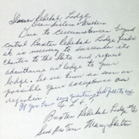 S1_F8_Minutes Letter from Mrs. Mary Shelton