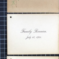 Titus Family Reunion cards, 1901