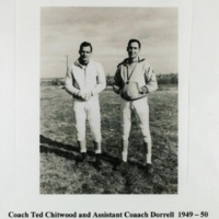 Coach Ted Chittwood and Assistant Coach Dorrell 1949-50