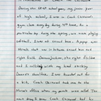 Handwritten recollection of Ted Chittwood