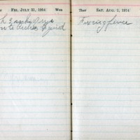 1914 Diary August 1