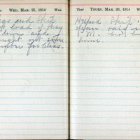 1914 Diary March 25-26