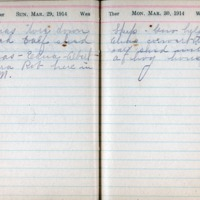1914 Diary March 29-30