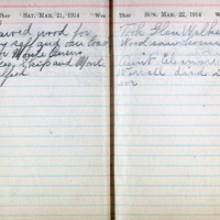 1914 Diary March 21-22