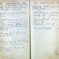 1904 Diary August 17-18