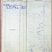1901 Diary Bills Payable December