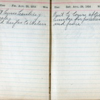 1914 Diary August 28-29