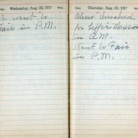 1917 Diary August 22-23