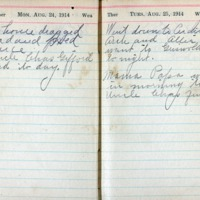 1914 Diary August 24-25