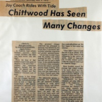 Chittwood has seen many changes