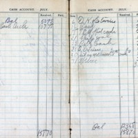 1914 Diary Cash Account July