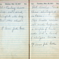 1917 Diary March 19-20