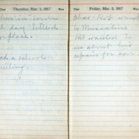 1917 Diary March 1-2