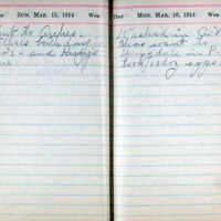 1914 Diary March 15-16