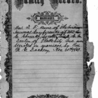 Family Record Marriages