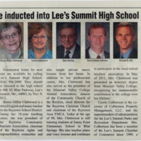 Honorees to be inducted into Lee's Summit High School Hall of Fame