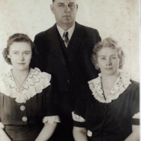 Esther and her parents, Johannah and Homer Grover