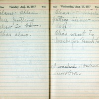 1917 Diary August 14-15