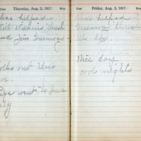 1917 Diary August 2-3