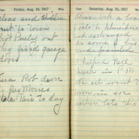 1917 Diary August 24-25