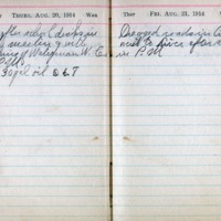 1914 Diary August 20-21