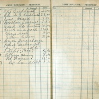 1904 Diary Cash Account February