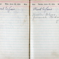 1914 Diary August 26-27