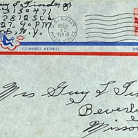 February 9, 1953 (front of envelope)