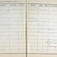 Thomas Family Record Book pages 50 & 51
