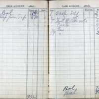 1914 Diary Cash Account April
