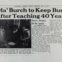 Ma' Burch to Keep Busy After Teaching 40 Years