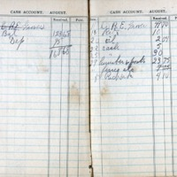 1914 Diary Cash Account August