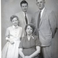 Roy family: Betsy and Eva in front and Herbert and Hugn in back