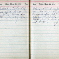 1914 Diary March 23-24