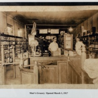 Interior of Muir's Grocery Store